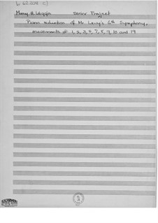 Симфония No.6 'Sinfonia strofica': Части I-IV, VII-X, XIX (Клавир) by Эрнст Леви