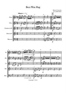 Bees Wax: For wind quintet by Гарри Дж. Линкольн