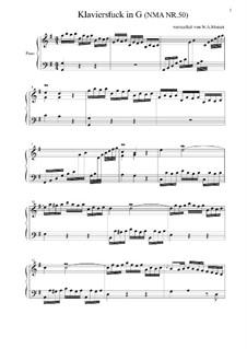 Klavierstück in G und Konzertsatz in G, NMA No.50, 51: Klavierstück in G und Konzertsatz in G by Вольфганг Амадей Моцарт