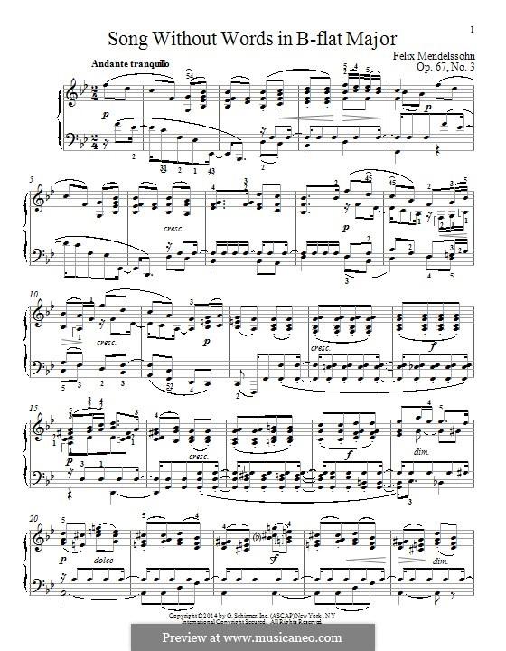 Песни без слов, Op.67: Nr.3 An die Entfernte by Феликс Мендельсон-Бартольди
