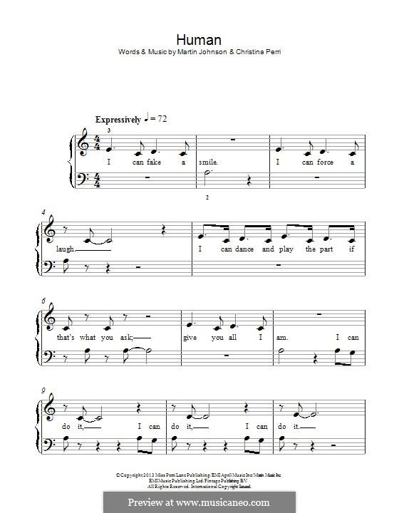 Human: Для фортепиано by Christina Perri, Martin Johnson