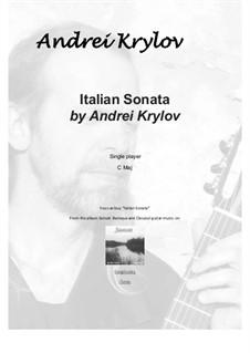 Italian sonata for classical guitar: Italian sonata for classical guitar by Andrei Krylov