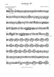 Часть II: Переложение для квартета – партия альта by Людвиг ван Бетховен