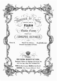 Morceau de salon, op.14: Для фортепиано by Адольф фон Хенсельт