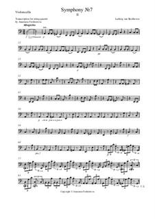 Часть II: Переложение для квартета – партия виолончели by Людвиг ван Бетховен