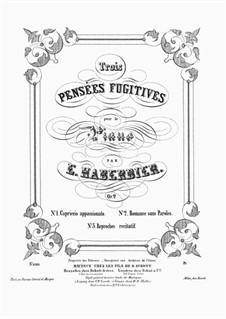 Trois Pensées Fugitives, Op.2: Trois Pensées Fugitives by Эрнст Габербир