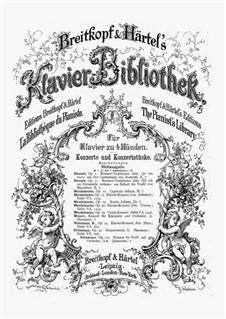Концертные вариации на тему 'Quand je quittai la Normandie' из оперы Мейербера 'Роберт-дьявол', Op.11: Для фортепиано в четыре руки by Адольф фон Хенсельт