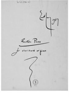 Четырнадцать пьес для клавикорда или фортепиано: Четырнадцать пьес для клавикорда или фортепиано by Эрнст Леви