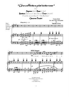Una cuffietta a pizzi tutta rosa: For solo voices and piano, CSPG4 by Джакомо Пуччини