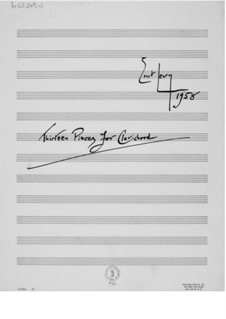Тринадцать пьес для клавикорда: Тринадцать пьес для клавикорда by Эрнст Леви