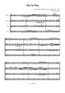 Day by Day: Для струнного квартета by Oscar Ahnfelt