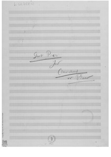 Двенадцать пьес для клавикорда или фортепиано: Наброски композитора by Эрнст Леви