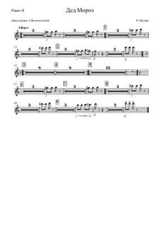 No.12 Дед Мороз: Оркестровка – партия второй флейты by Роберт Шуман