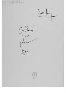 Пять пьес для фортепиано: Пять пьес для фортепиано by Эрнст Леви