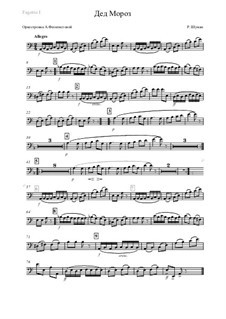 No.12 Дед Мороз: Оркестровка – партия первого фагота by Роберт Шуман