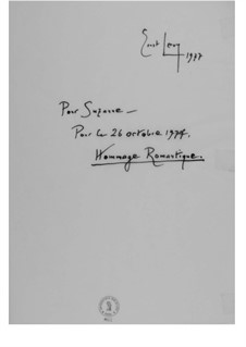Hommage romantique (Pour Suzanne): Hommage romantique (Pour Suzanne) by Эрнст Леви
