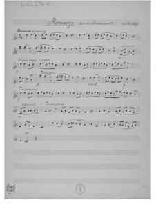 Романс для одного инструмента в сопровождении фортепиано: Сольная партия by Эрнст Леви