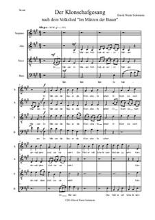 Der Klonschafgesang: For mixed choir (SATB) by folklore