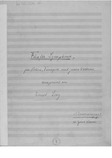 Симфония No.5 для скрипки, трубы и оркестра: Клавир by Эрнст Леви