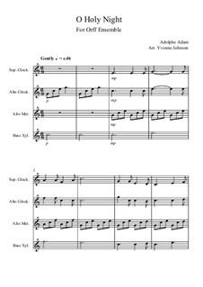 Святая ночь: For orff ensemble by Адольф Адам