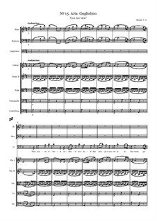 Non siate ritrosi: Партитура, Партии by Вольфганг Амадей Моцарт