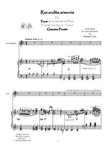 Тоска: Recondita armonia, for tenor and piano, CSPG9 by Джакомо Пуччини