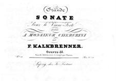 Фортепианная соната ля минор, Op.48: Фортепианная соната ля минор by Фридрих Калькбреннер