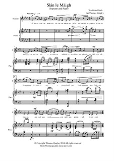 Slán le Máigh: For soprano and piano by folklore