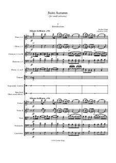 Suite Autumn (for small orchestra): Suite Autumn (for small orchestra) by Jordan Grigg