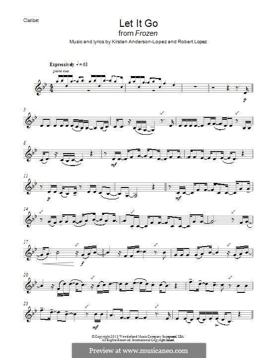 Instrumental version: Для кларнета by Robert Lopez, Kristen Anderson-Lopez