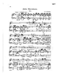 Иуда Маккавей, HWV 63: Pious Orgies, Pious Airs, for voice and piano by Георг Фридрих Гендель