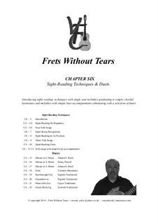 Frets Without Tears: Chapter Six - Sight-Reading Techniques & Duets by Иоганн Себастьян Бах, Генри Пёрсел, folklore, Valentin Haussmann, Vincent Coley