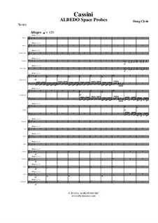 Albedo Space Probes: Cassini (Full Score and Parts), AMSM88 by Doug Clyde