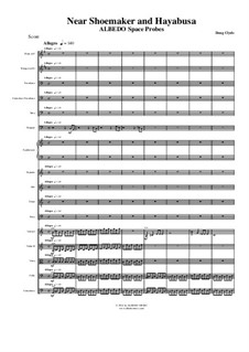 Albedo Space Probes: Near Shoemaker and Hayabusa (Full Score and Parts), AMSM89 by Doug Clyde