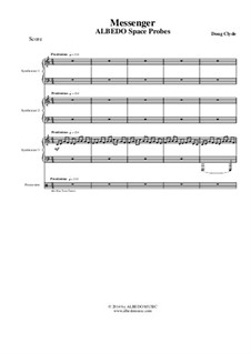 Albedo Space Probes: Messenger (Full Score and Parts), AMSM91 by Doug Clyde