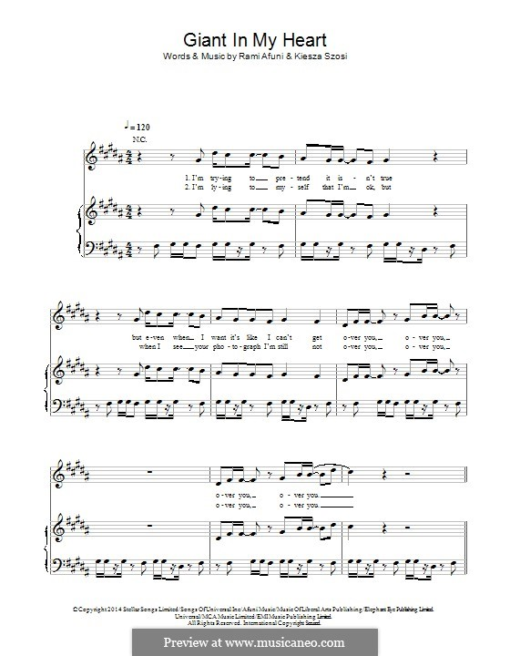 Giant in My Heart: Для голоса и фортепиано (или гитары) by Kiesza, Rami Samir Afuni