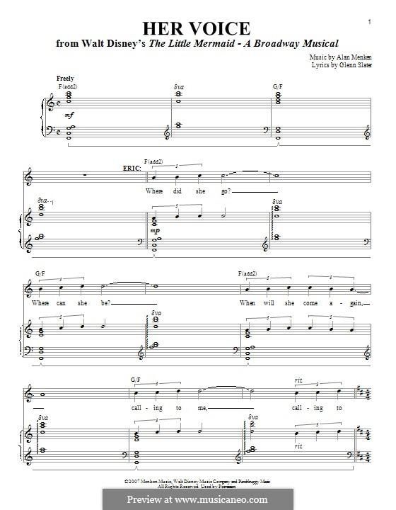 Her Voice: Для голоса и фортепиано by Alan Menken