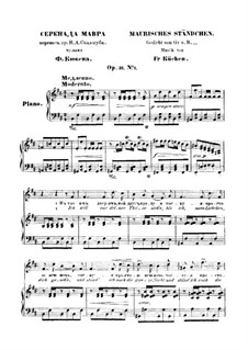 Серенада Мавра, Op.31 No.1: Серенада Мавра by Фридрих Вильгельм Кюкен