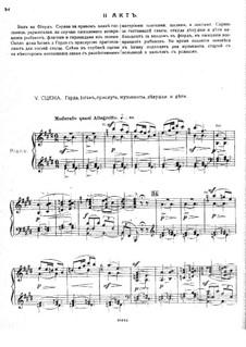 Оле из Нордланда, Op.53: Акт II – клавир с вокальной партией by Михаил Ипполитов-Иванов