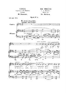 Слеза, Op.52 No.3: Слеза by Фридрих Вильгельм Кюкен