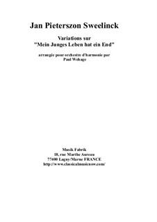 Mein junges Leben hat ein End', D.48: Arranged for concert band – score by Ян Питерсзон Свелинк