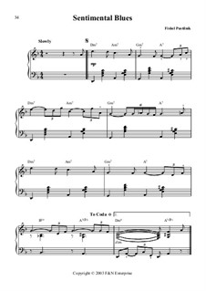 Sentimental Blues: Sentimental Blues by Fishel Pustilnik