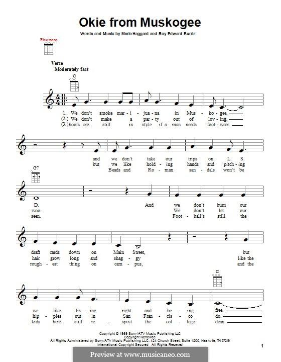 Okie from Muskogee: Для укулеле by Roy Edward Burris