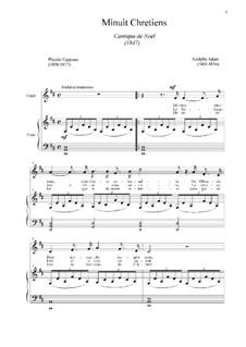 Святая ночь (фортепианно-вокальная партитура): Для голоса и фортепиано (D Major) by Адольф Адам