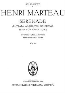 Серенада для духовых инструментов, Op.20: Партия I флейты by Анри Марто