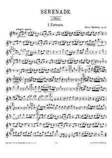 Серенада для духовых инструментов, Op.20: Партия I гобоев by Анри Марто