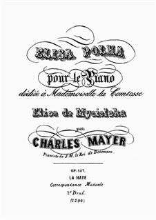 Elisa Polka, Op.187: Для фортепиано by Чарльз Майер