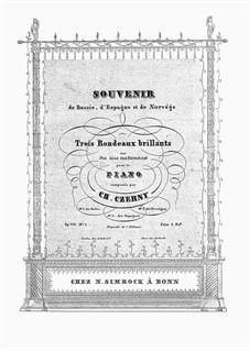 Souvenir de Russie. Rondeau Brillant sur des air Nationaux, Op.520 No.1: Souvenir de Russie. Rondeau Brillant sur des air Nationaux by Карл Черни