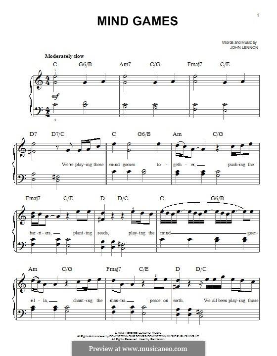 Mind Games: Для фортепиано by John Lennon