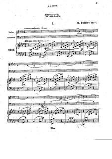 Фортепианное трио фа минор, Op.14: Часть I by Георгий Катуар